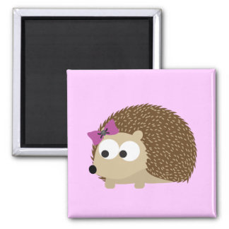 cute Girl hedgehog Refrigerator Magnet