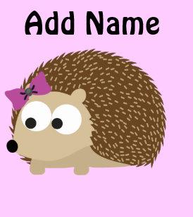 4c18937e8de Cute Girl Hedgehog Small Christmas Stocking
