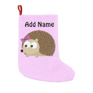 Cute Girl Hedgehog Small Christmas Stocking