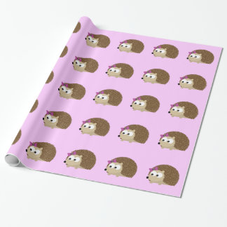 cute Girl hedgehog Wrapping Paper