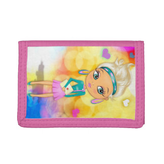 Cute girl illustration girls wallet