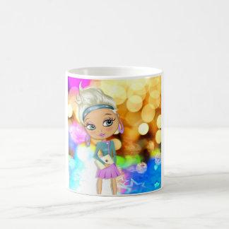 Cute girl illustration mug