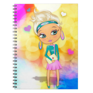 Cute girl illustration photo notebook