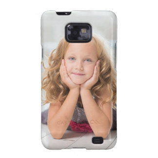 Cute Girl image Samsung Galaxy S2 Cases