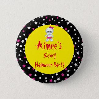 Cute Girl Mummy Halloween Party 6 Cm Round Badge