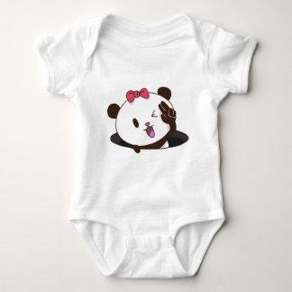 Cute girl panda OK! Baby Bodysuit