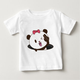 Cute girl panda OK! Baby T-Shirt