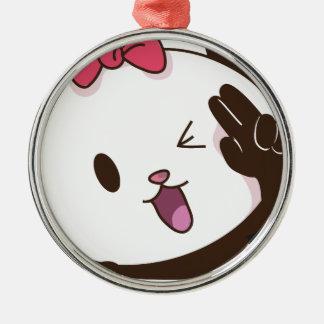 Cute girl panda OK! Christmas Ornament