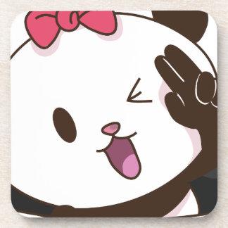 Cute girl panda OK! Coaster