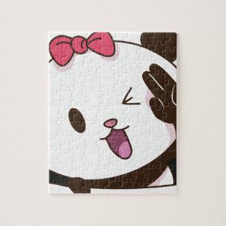 Cute girl panda OK! Jigsaw Puzzle