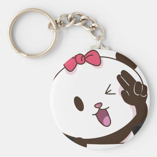 Cute girl panda OK! Key Ring
