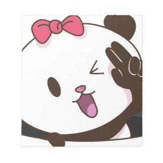 Cute girl panda OK! Notepad