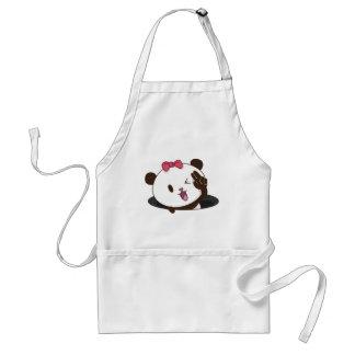 Cute girl panda OK! Standard Apron