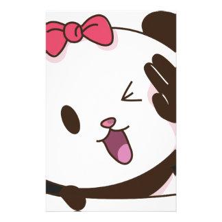 Cute girl panda OK! Stationery