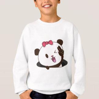 Cute girl panda OK! Sweatshirt