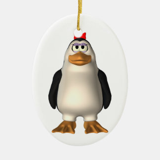 Cute Girl Penguin Ornament