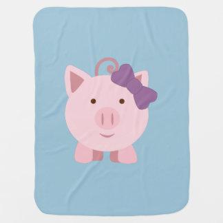 cute girl pig baby blanket