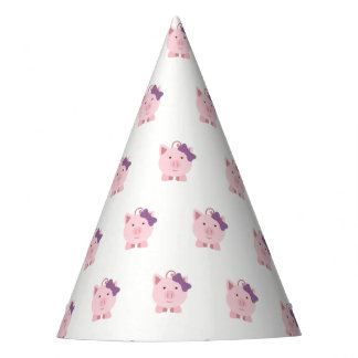 Cute Girl PIg Party Hat