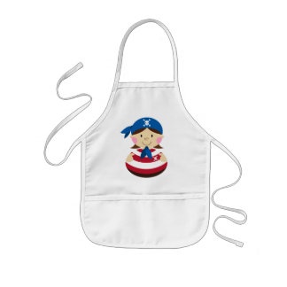 Cute Girl Pirate Apron