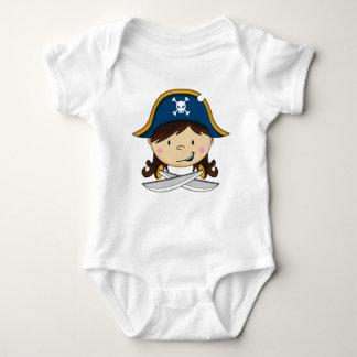 Cute Girl Pirate Babies T-Shirt
