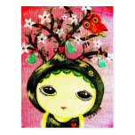 Cute Girl - She Grows A Tree Post Card