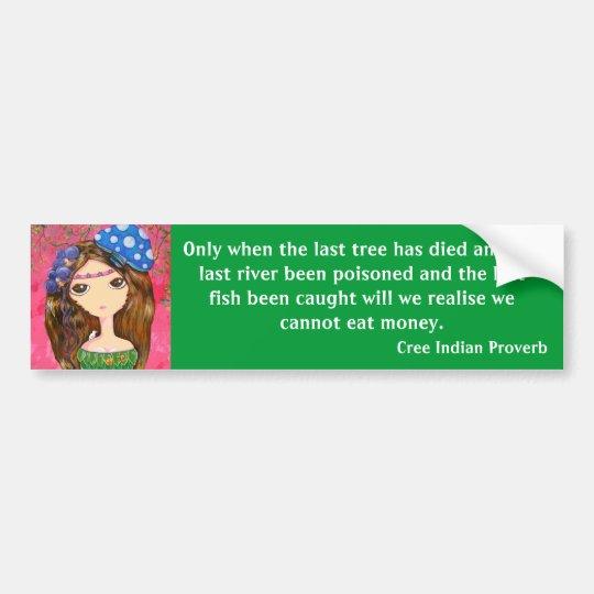 Cute Girl - The Forest Guardian Bumper Sticker