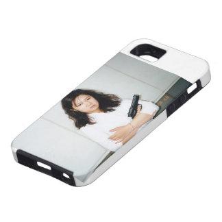 Cute Girl with Gun iPhone 5 Case