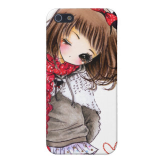 Cute girl with Mickey ears Cover For iPhone 5