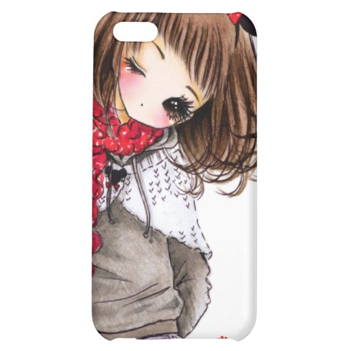 Cute girl with Mickey ears Cover For iPhone 5C