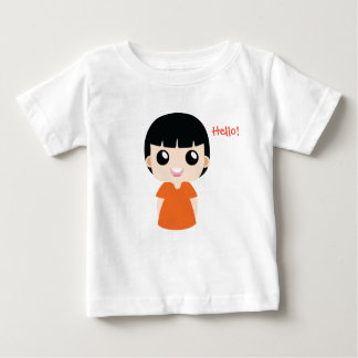 Cute Girl with Orange color vector Baby T-Shirt