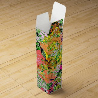 Cute girley abstract flowers wine boxes