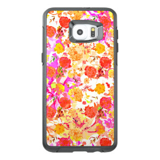 Cute girley flowers pattern OtterBox samsung galaxy s6 edge plus case