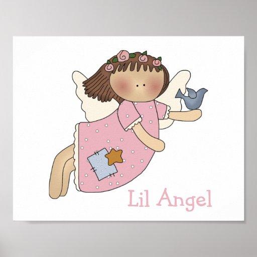 Cute Girl's Angel Print