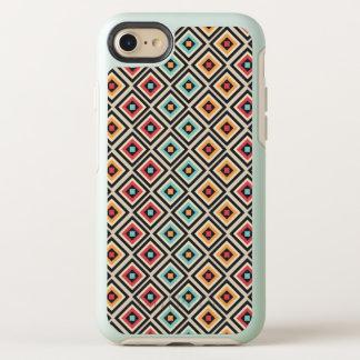 Cute Girls Beige Diamond Pattern OtterBox Symmetry iPhone 8/7 Case