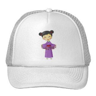 Cute Girls Chinese New Years Wish Mesh Hats