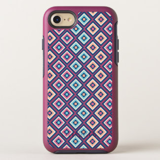 Cute Girls Diamond Pattern Pink, Yellow and Teal OtterBox Symmetry iPhone 8/7 Case