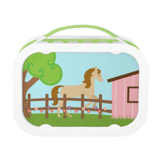 Cute girls horse yubo lunchbox