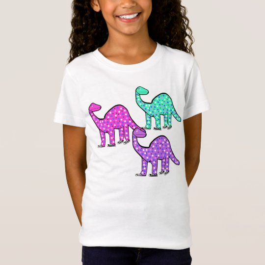 Cute Girl's Pink Dinosaur T-shirt Gift