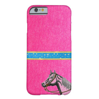 Cute Girls Pink Horse Sparkles Design iPhone Case Barely There iPhone 6 Case