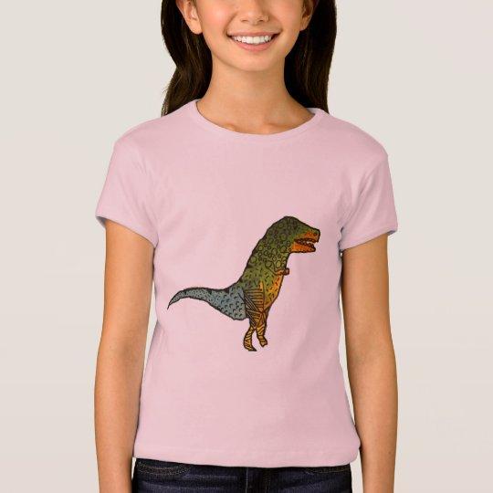 Cute girls T-Rex dinosaur art T-Shirt