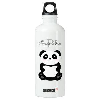 Cute Girly Baby Panda Bear Add Your Name Monogram Water Bottle