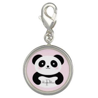 Cute Girly Baby Panda Bear Monogram