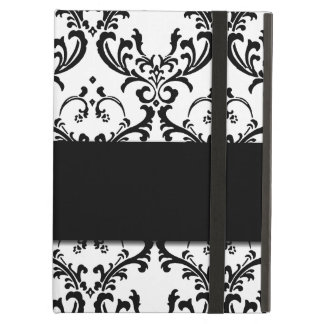 Cute Girly Black Damask Pattern iPad Air Cases