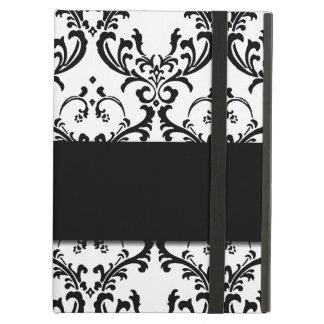 Cute Girly Black Damask Pattern iPad Air Cover