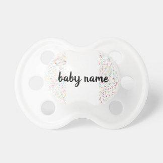 Cute Girly Bling Glitter Pattern Personalized Name Dummy