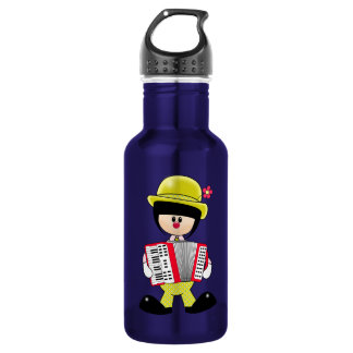 Cute Girly Clown with Accordian 532 Ml Water Bottle