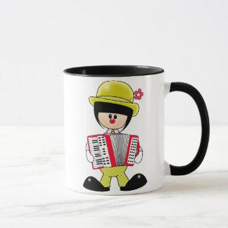 Cute Girly Clown with Accordian Mug