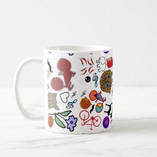 cute girly color pattern coffee mug