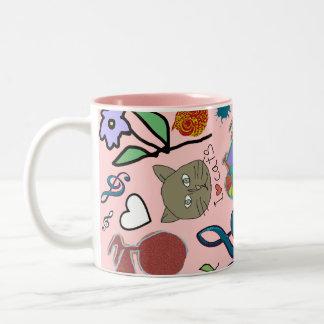 cute girly color pattern mug