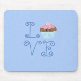 Cute Girly Colorful Kawaii Sweet Love Cupcake Mouse Pad